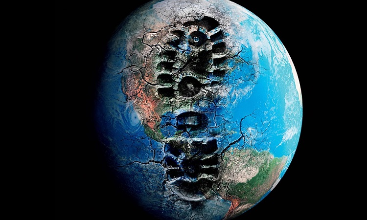 impronta scarpa sul mondo