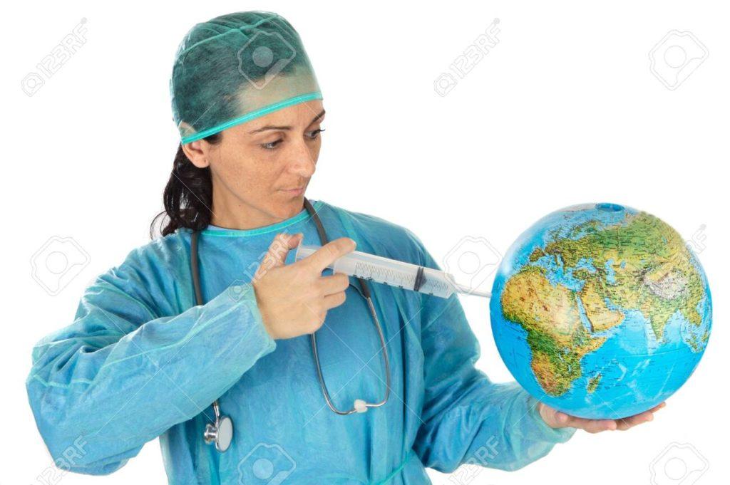 dottoressa che cura il mondo